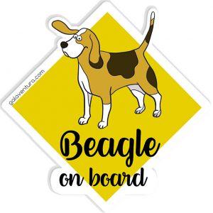 Pegatina Beagle on board o Beagle a bordo