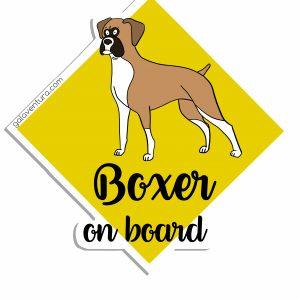 Pegatina Boxer on board o Boxer a bordo