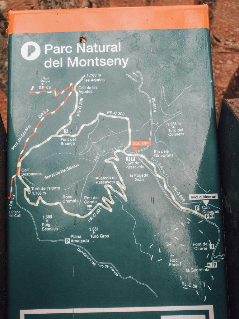 Mapa ruta Turó de l'Home